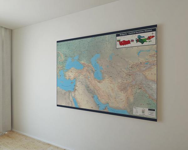 Стенна карта на централна Евразия